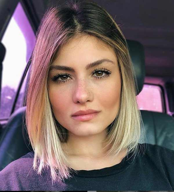 Фото женский стрижек на средние волосы