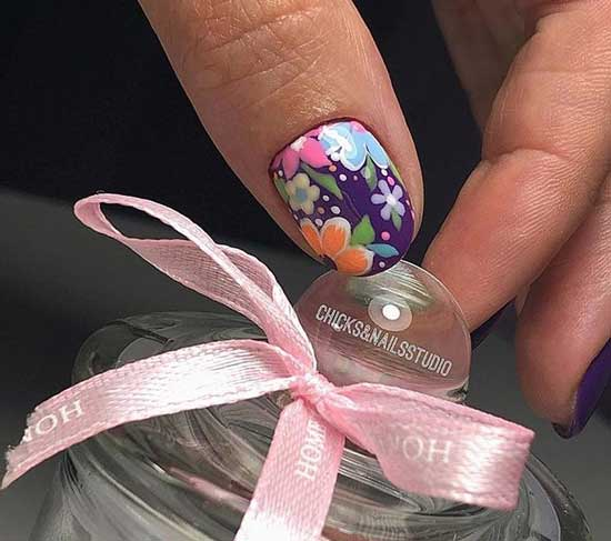 Дизайн ногтей -цветы 2020