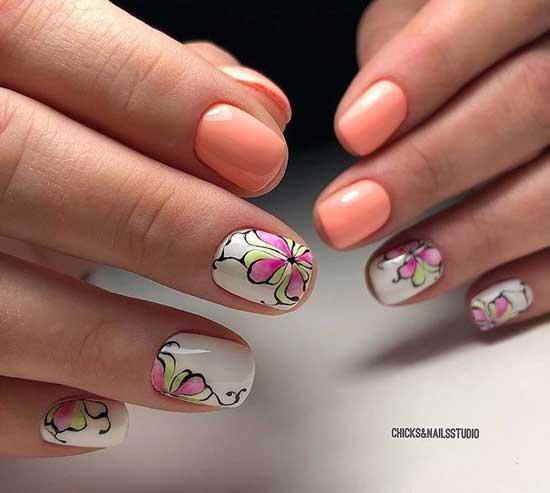 Дизайн ногтей с цветами 2019