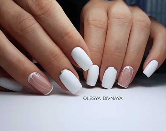 Дизайн ногтей рамка в стиле минимализм