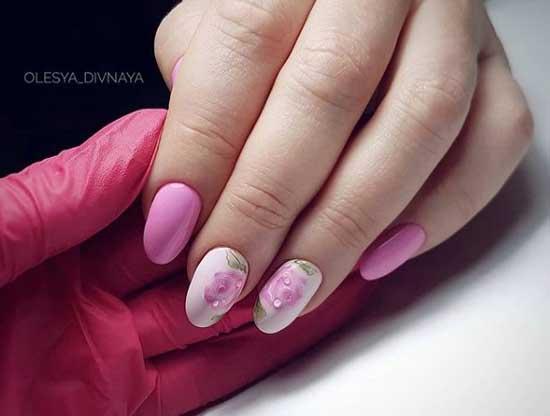 Цветочный дизайн в розовых тонах