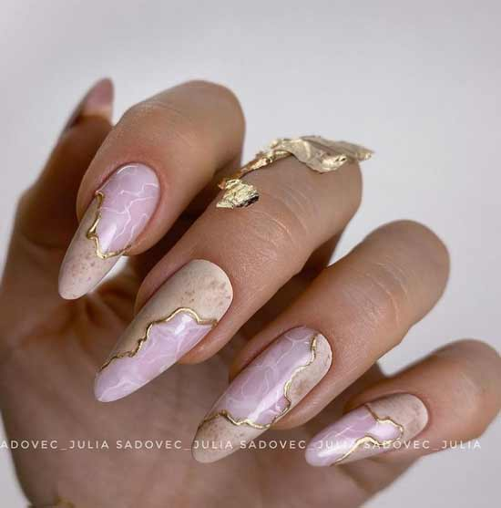 Длинные ногти пастельный маникюр
