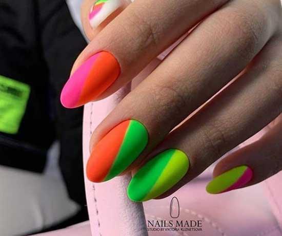 Модные ногти 2019-2020 фото яркие ногти