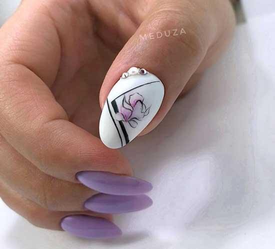 Модные ногти 2019-2020 цветочный принт