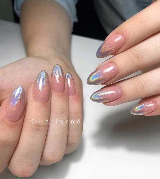 Форма - острые ногти дизайн маникюра