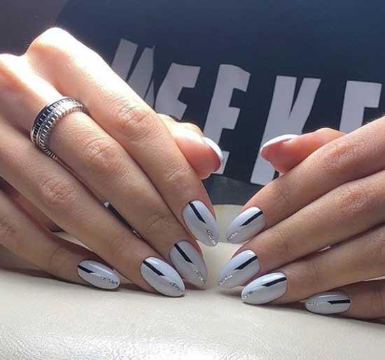 Необычный дизайн на острые ногти