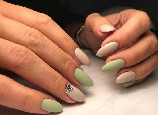 Матовые острые ногти дизайн