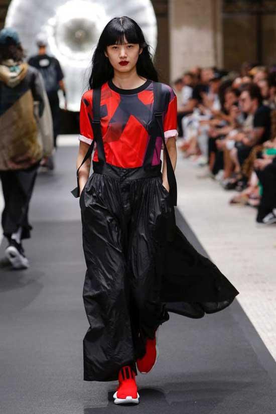Menswear длинная юбка из эко-материала