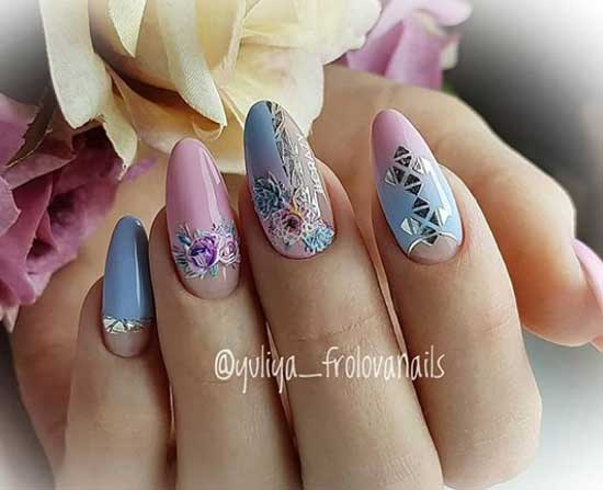 Цветочный дизайн ногтей в отпуск