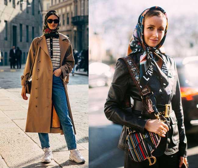 Модные аксессуары для волос от платка до ободка