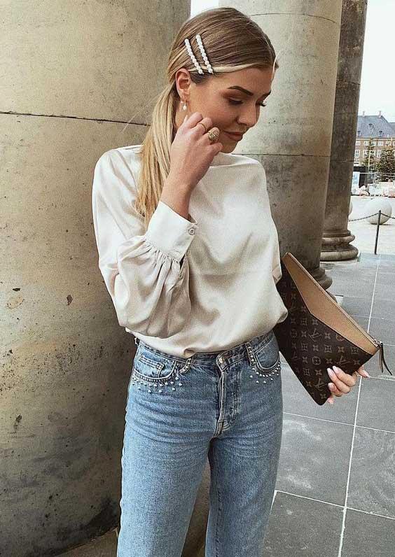 Модные аксессуары для волос - массивные заколки