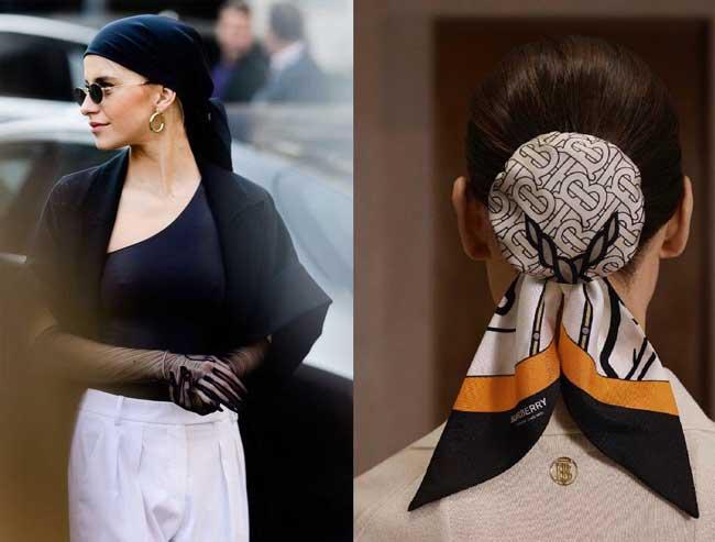 Платки модные аксессуар для волос