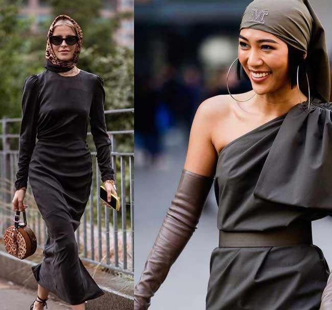 Как модно повязать шелковый платок на голову