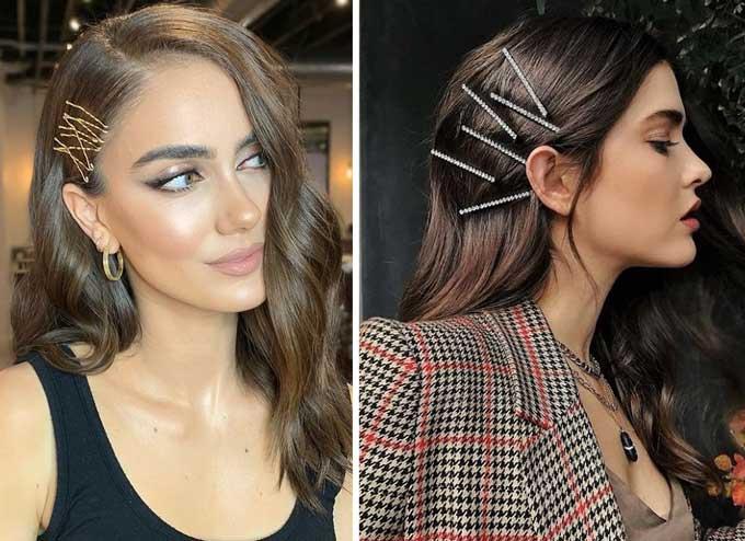 Модные аксессуары для волос - невидимки