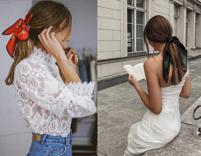 Как носить ленты в волосах