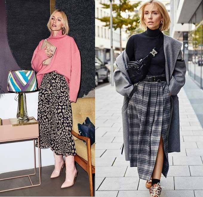 Образы с модными юбками макси 2019-2020