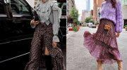 Модные длинные юбки 2019—2020: с чем носить, лучшие образы, фото