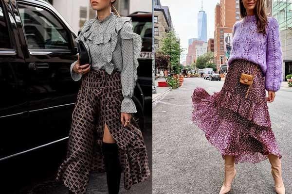 Модные длинные юбки 2019: с чем носить, лучшие образы, фото