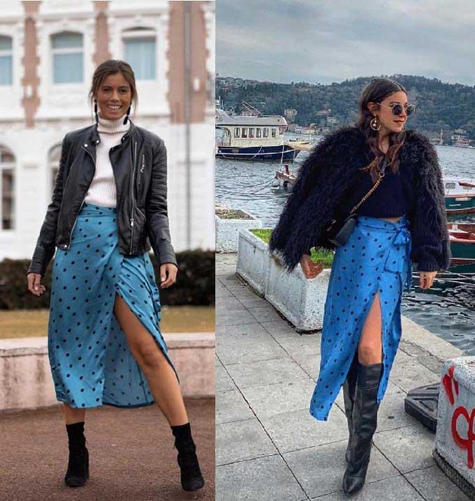 Модные юбки с запахом 2019