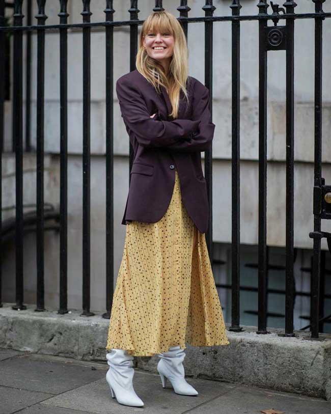 Модное платье халат с пиджаком