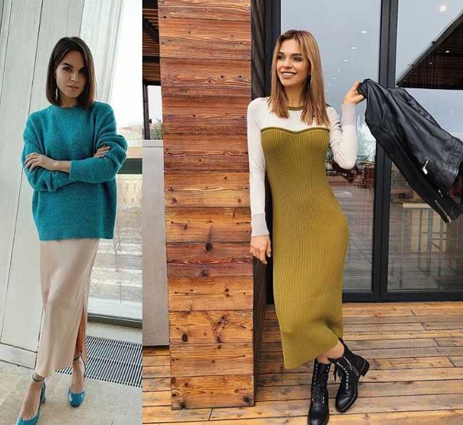 Модные образы с платьем 2020