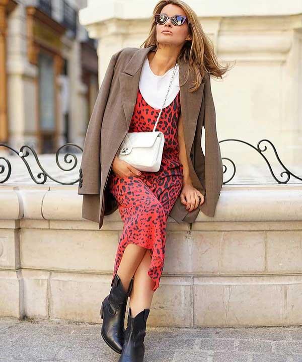 Платье с леопардовым принтом - лук