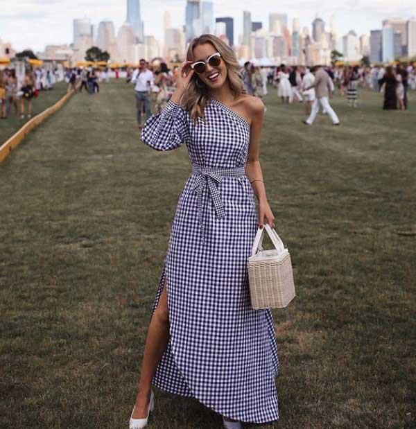 Модные платья в клетку