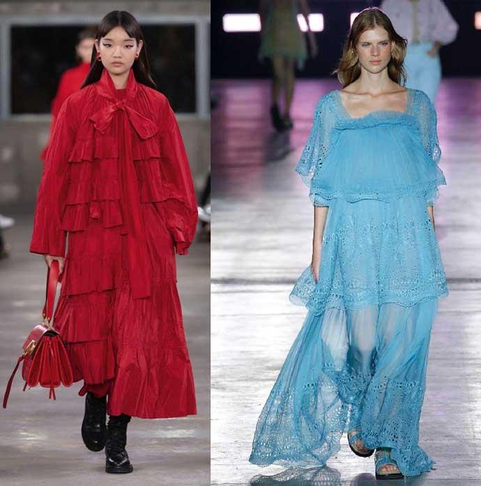 Свободные платья в викторианском стиле