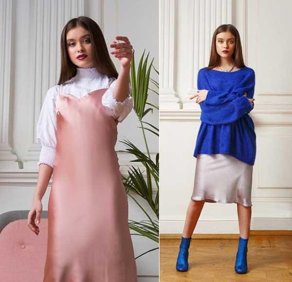 Шелковые модные платья 2019-2020