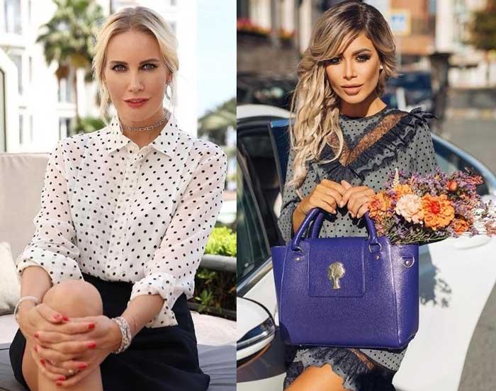 Знаменитости в модных блузках в горошек