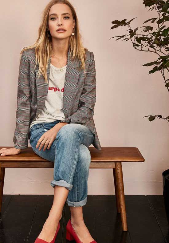 Образ с модными джинсами