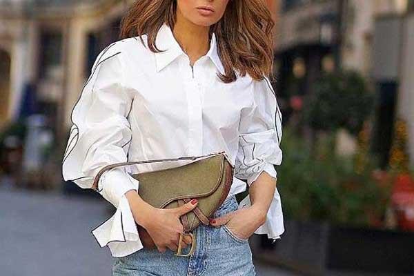 Модные сочетания с джинсами модели бойфренд
