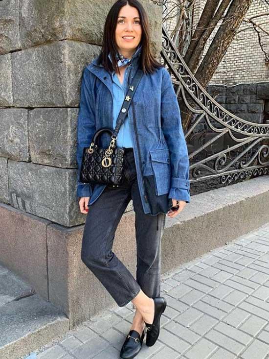 С чем носить джинсы-бойфренды - образ девушки