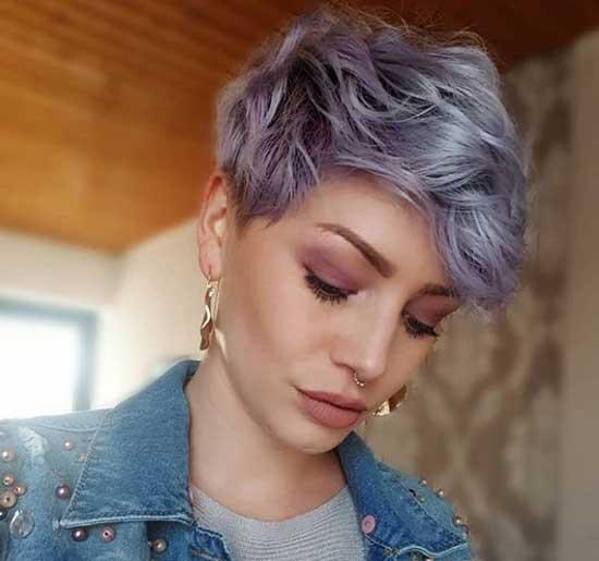 Пикси с фиолетовым цветом волос