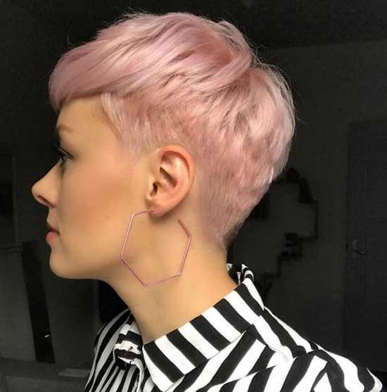 Пикси с розовым цветом волос