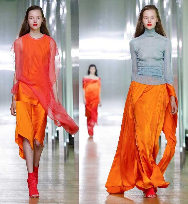 Шелковые юбки в модных образах