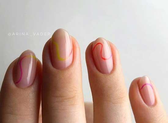 Неон и натуральные ногти
