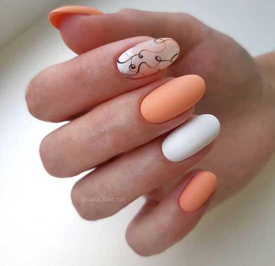 Персиковый цвет ногтей 2019