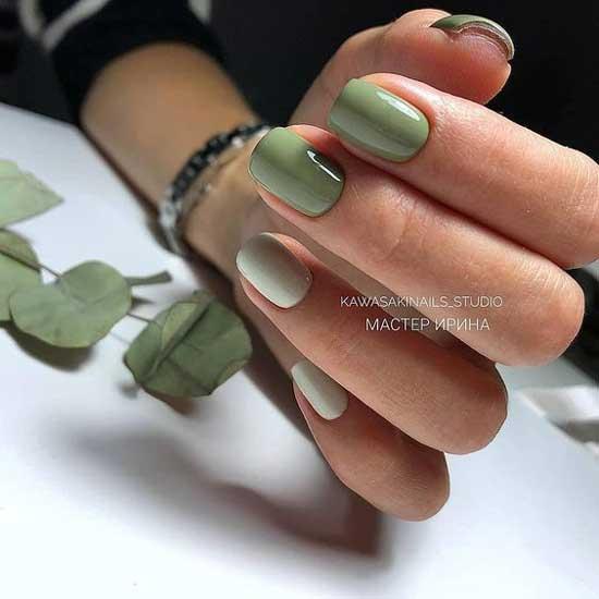 Зеленый - модный цвет ногтей лето 2019