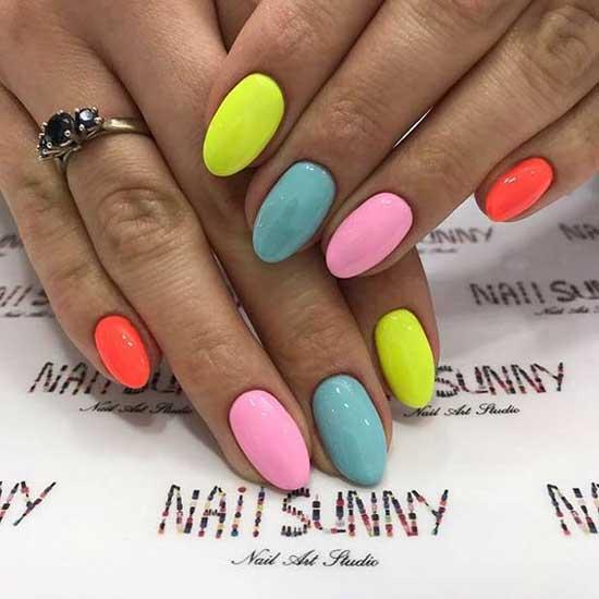 Маникюр все ногти разного цвета