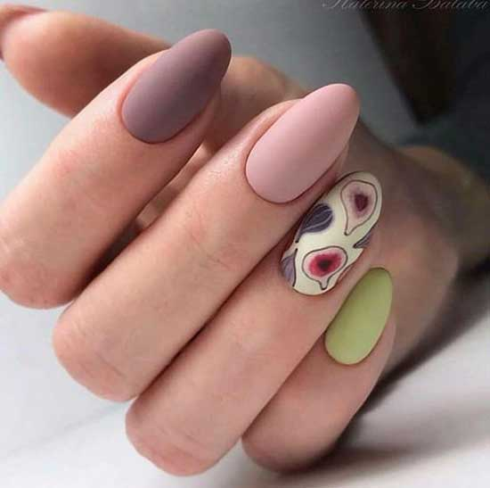Идеи и фото разноцветных ногтей