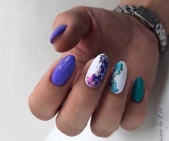 Ногти разного цвета фото
