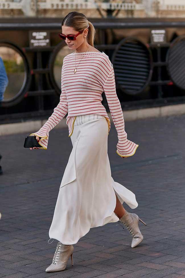 С чем носить юбку слип