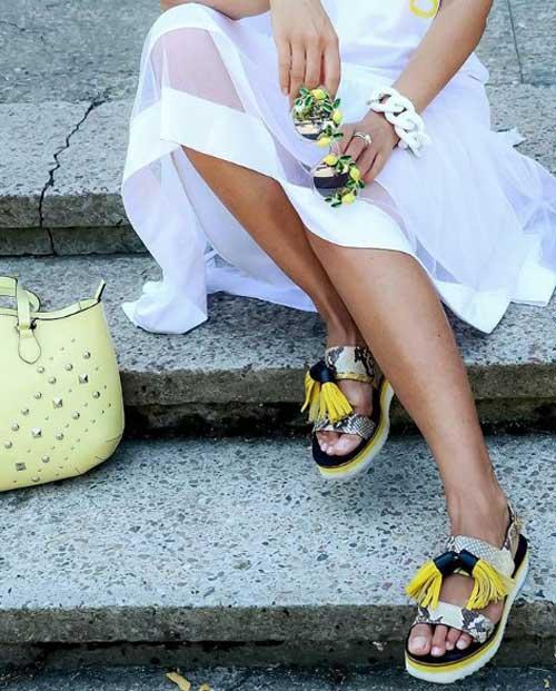 Сандалии на платформе с чем носить