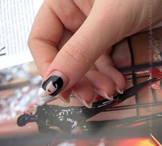 Нейл-арт на светлых ногтях