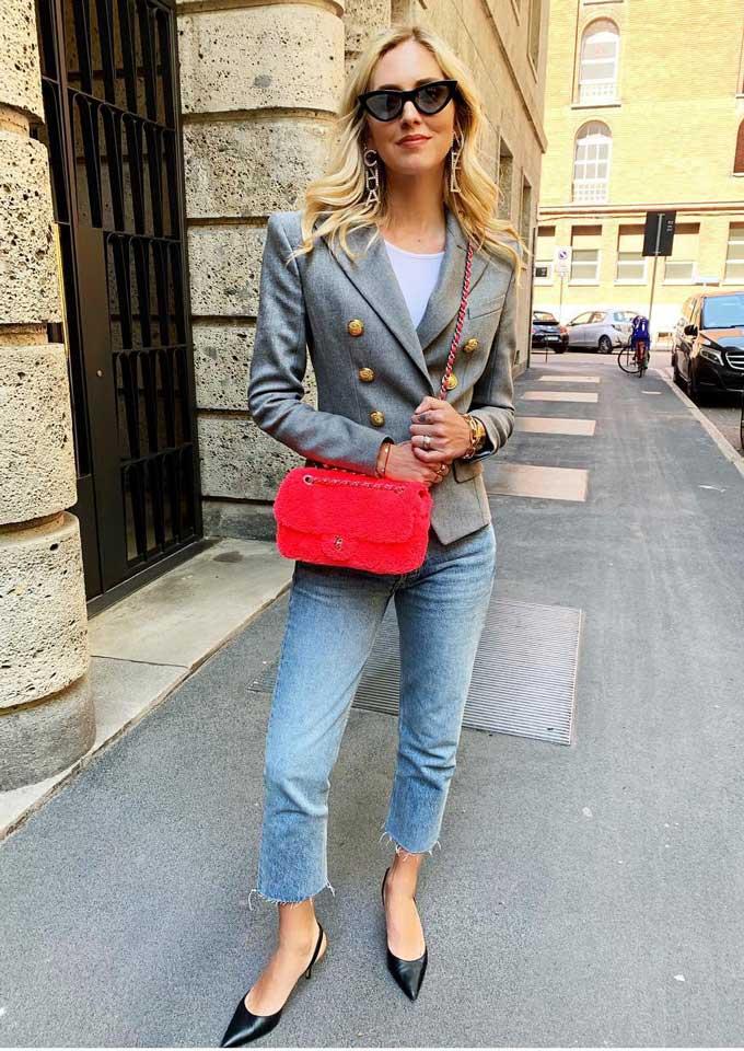 Модный образ с приталенным пиджаком от блогера