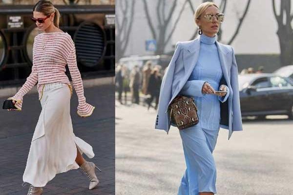 Модные юбки слип фото и образы