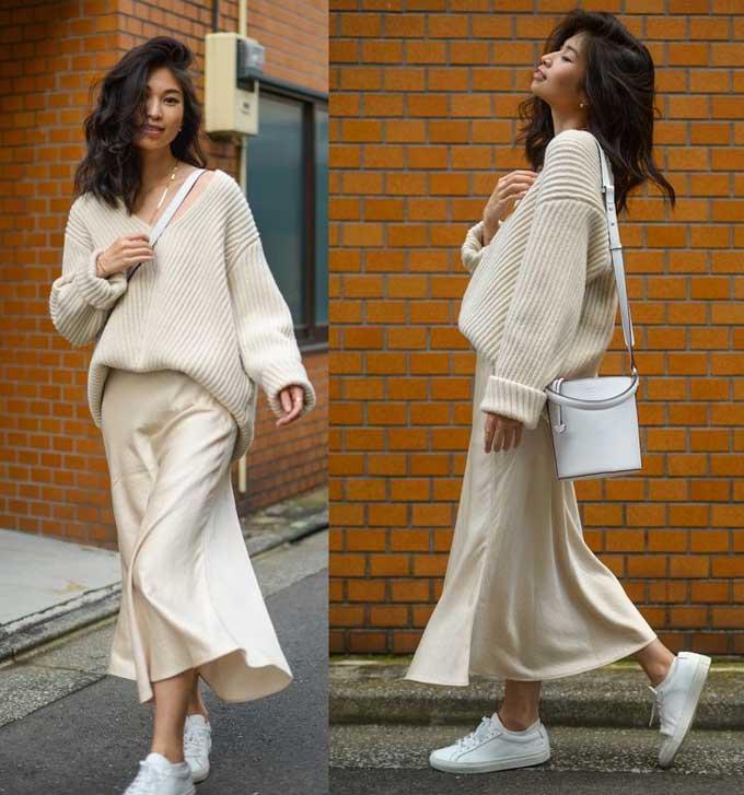 С чем носить юбку слип: самая модная юбка 2019, фото