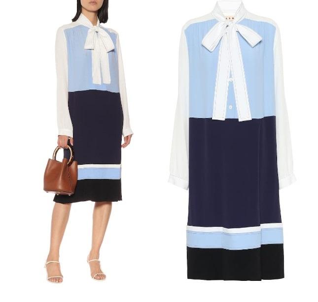 Платье в стиле колор-блок