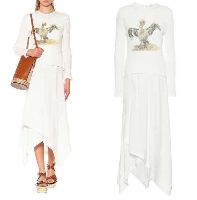 Летнее платье с асимметричным подолом